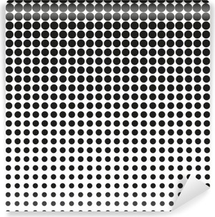Abstract halftone. Black dots on white background. Halftone background. Vector halftone dots. halftone on white background. Background for design Washable Wall Mural