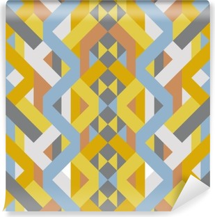 abstract retro geometric pastel art deco style pattern Washable Wall Mural