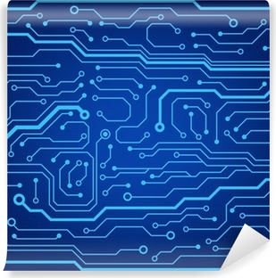 abstract technology circuit board vector background Washable Wall Mural