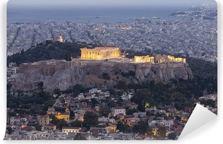 Acropolis and Parthenon,Athens,Greece Washable Wall Mural