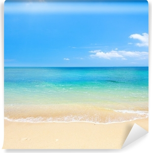beach and tropical sea Washable Wall Mural