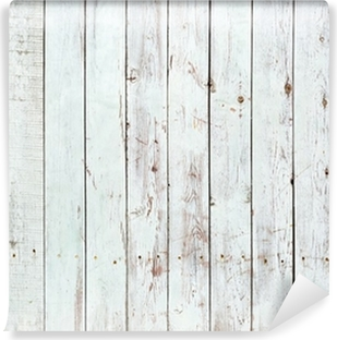 Black and white background of wooden plank Washable Wall Mural
