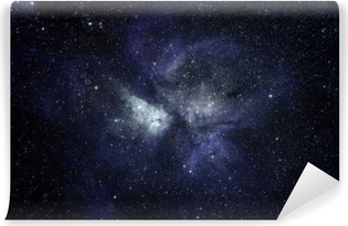 Blue space background Washable Wall Mural
