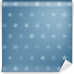 Blue stars pattern Washable Wall Mural