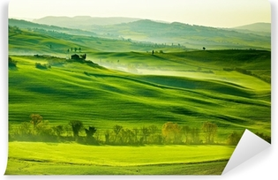Bright green countryside in Tuscany Washable Wall Mural
