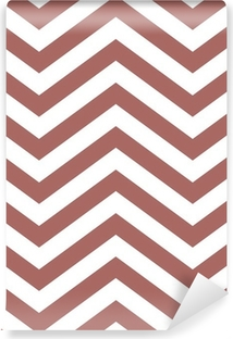 brown and white chevron background Washable Wall Mural