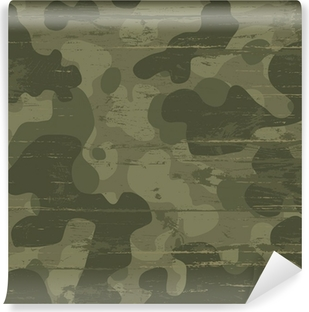 Camouflage military background. Vector illustration, EPS10 Washable Wall Mural
