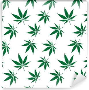 cannabis seamless pattern extended Washable Wall Mural