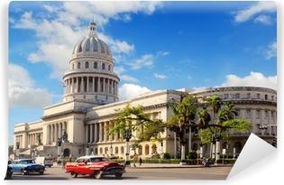 Capitolio building in Havana Cuba Washable Wall Mural