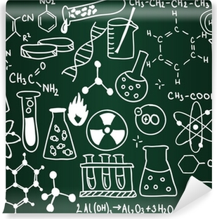 Chemistry school board Washable Wall Mural
