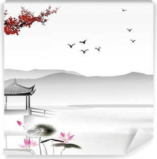 Chinese painting Washable Wall Mural