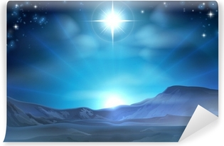 Christmas Nativity Star of Bethlehem Washable Wall Mural