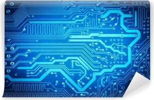 circuit board background Washable Wall Mural