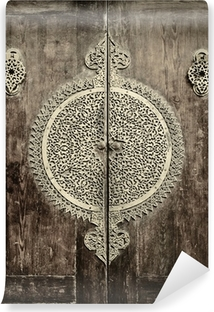 close-up image of ancient doors Washable Wall Mural