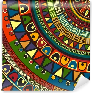 Colored tribal design Washable Wall Mural