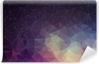 Colorful geometric background with triangles Washable Wall Mural
