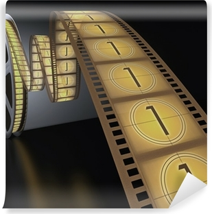 Countdown with the number 1 on the film strip  Canvas Print • Pixers