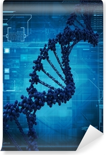 Digital illustration of a dna Washable Wall Mural