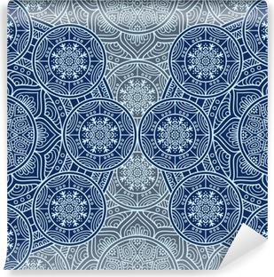 Ethnic floral seamless pattern Washable Wall Mural
