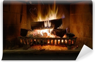 Fireplace Washable Wall Mural