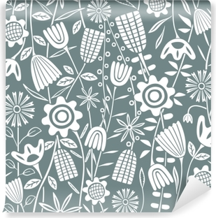 Flower pattern - Kubem Studio Washable Wall Mural
