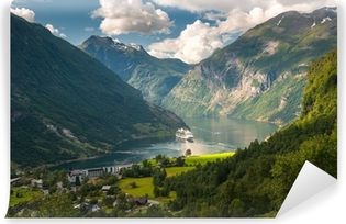 Geiranger fjord, Norway Washable Wall Mural