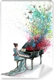 grand piano music (series C) Washable Wall Mural