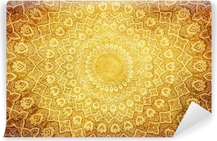 grunge background with oriental ornaments . Washable Wall Mural
