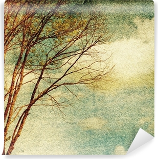 Grunge vintage nature background Washable Wall Mural