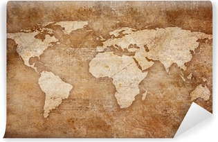 Grunge world map background canvas print pixers we live to change grunge world map background washable wall mural gumiabroncs Choice Image