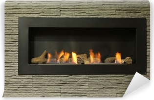 interior fireplace Washable Wall Mural