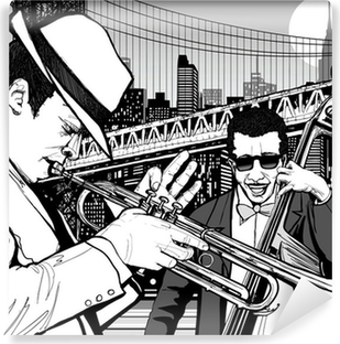 jazz in New York Washable Wall Mural