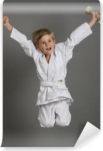 judo enfant kimono gagner victoire sport champion saut Washable Wall Mural