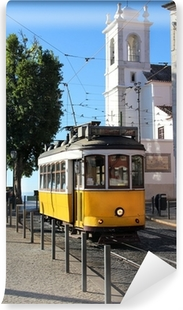 Lisbon tram Washable Wall Mural