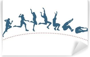 Long jump trajectory Washable Wall Mural