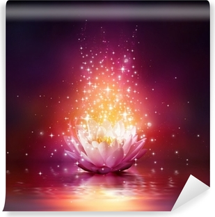 magic flower on water Washable Wall Mural