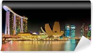 Marina Bay Singapore panorama Washable Wall Mural