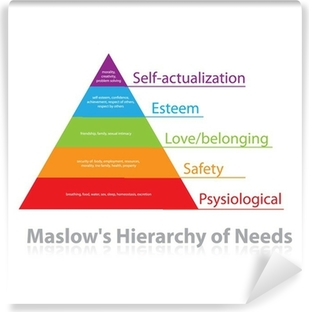 Maslow's-Hierarchy-of-Needs Washable Wall Mural
