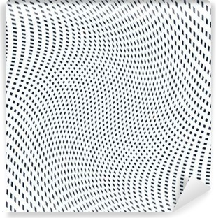 Moire pattern, op art background. Hypnotic backdrop with geometr Washable Wall Mural