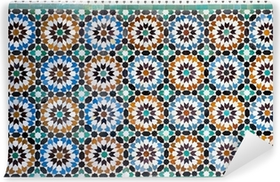 moroccan vintage tile background Washable Wall Mural