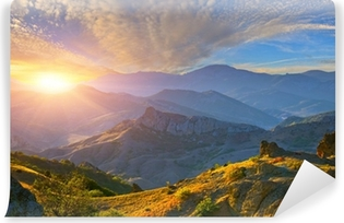 Mountain sunrise Washable Wall Mural