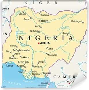 nigeria kart Nigeria map (Nigeria Landkarte) Poster • Pixers® • We live to change nigeria kart