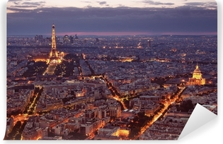 Night view of Paris. Washable Wall Mural