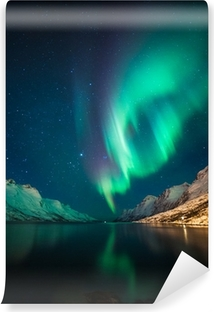 Northern Lights in Norway Washable Wall Mural