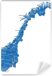Norway map Washable Wall Mural