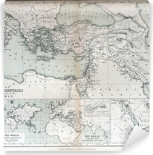 Old map of countries mentioned in the bible 1870 poster pixers old map of countries mentioned in the bible 1870 self adhesive wall mural gumiabroncs Gallery