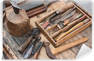 old tools of the shoemaker Washable Wall Mural