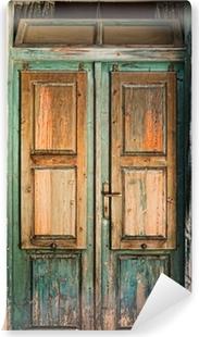 Old wooden door Washable Wall Mural