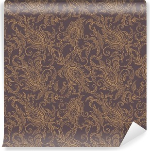 paisley fabric orient seamless pattern Washable Wall Mural