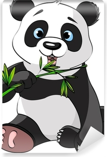 Panda eating bamboo Washable Wall Mural